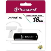Transcend 16GB Flash Disk Drive-JetFlash 350-Black