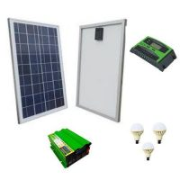 solarmax 120W Panel Controller,Inverter with 3 Bulbs