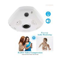 Fisheye 360 Degree Panoramic Wireless Hd Ip Wifi CCTV Camera