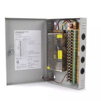 CCTV Camera Power Supply Distribution Box Unit 12V 10A 18 Channels