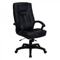 Executive High Black Chair in Black PVC