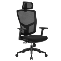 HIGH BACK MESH CHAIR WITH HEADREST 6046A BLACK